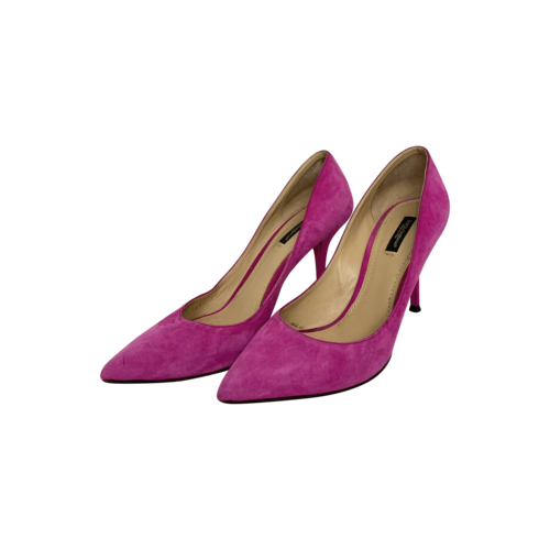 Dolce & Gabbana Pink Suede Pointed Heels