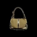 """Gold Metallic Canvas """"Jackie"""" Shoulder Bag"""
