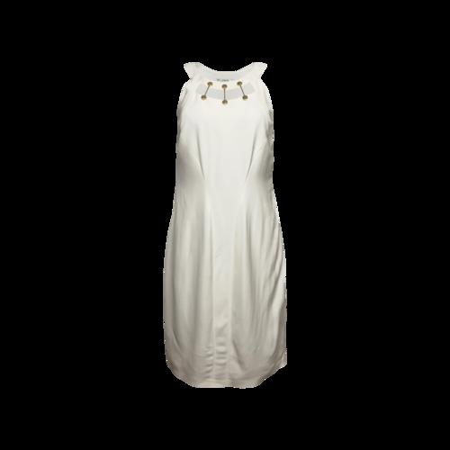 Versace White Dress w/ Gold Cage Neckline