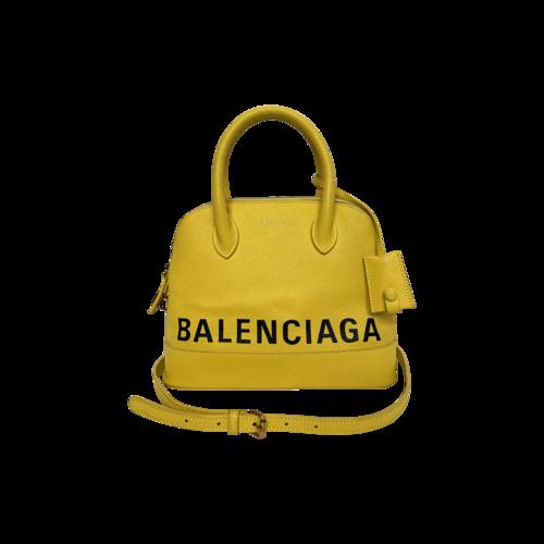 Balenciaga Canary Yellow Ville Small Logo Crossbody Bag