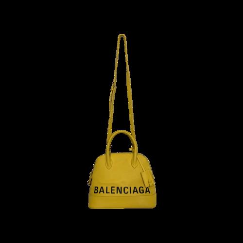 Canary Yellow Ville Small Logo Crossbody Bag