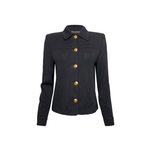 St. John Black Soft Knit Jacket