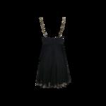Black Silk Dress w/ Jeweled Straps