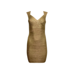 "Gold ""Iman"" Bandage Dress"