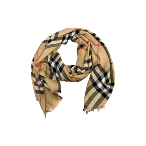 Burberry Beige Classic Check Scarf