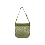 Lime Green Signature Jacquard Hobo Bag