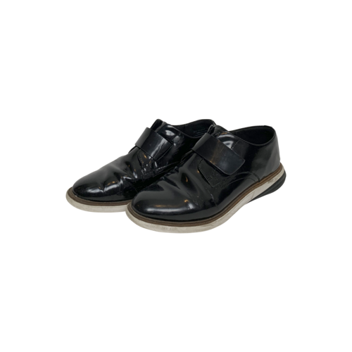 Cole Haan Black Grandevolution Modern Monk Strap Leather Shoes