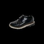 Black Grandevolution Modern Monk Strap Leather Shoes
