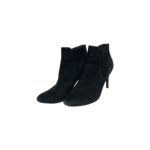 Black Suede Pointed Booties