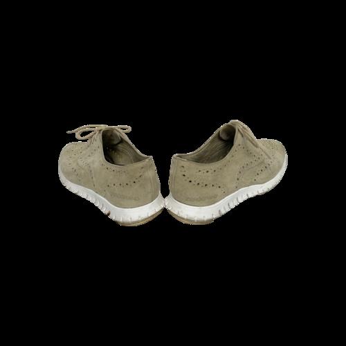 "Cream Zerogrand ""Wingtip"" Oxford Sneakers"