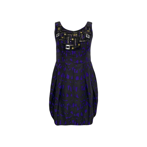 Milly Purple Embellished Mini Dress