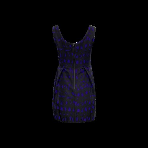 Purple Embellished Mini Dress