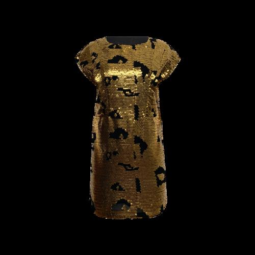 Chloé Gold & Black Shift Dress