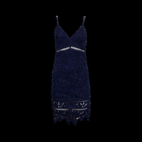 ASTR Navy Blue Lace Bodycon Dress