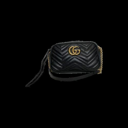 Gucci Black Marmont Matelassé Crossbody Bag