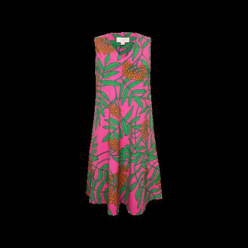 "Vintage Julie Brown NYC Pink Poppy ""Livie"" Jersey Dress"