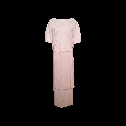 "Noyette Blush Pink ""West 30th"" Tiered Dress"