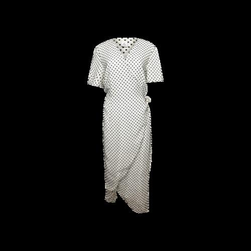Second Sight Black and White Polka Dot Wrap Dress