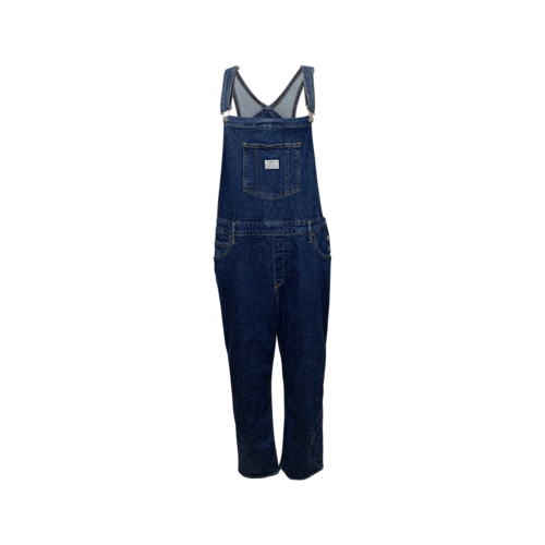 Levi's Blue Cropped Overalls