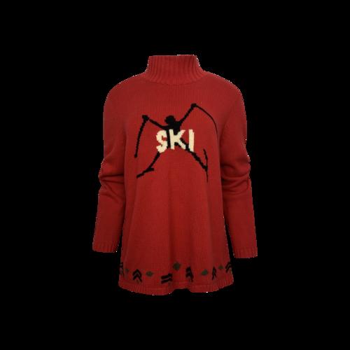 """Tommy Hilfiger Red """"Ski"""" Turtleneck Sweater"""