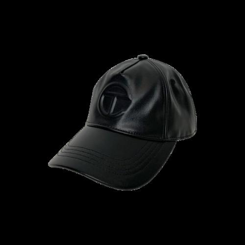 Telfar Black Logo Embossed Hat