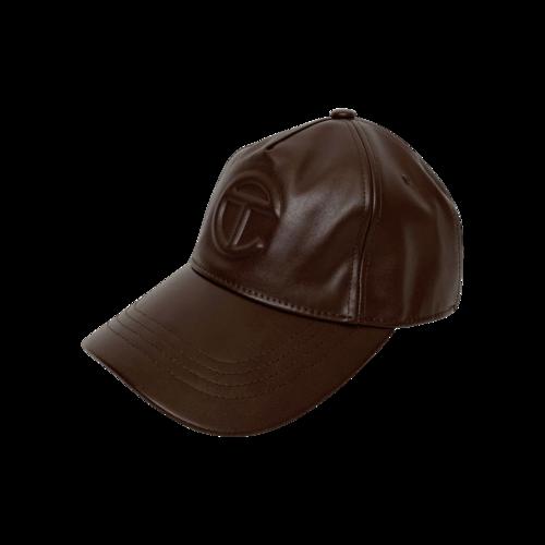 Telfar Brown Logo Embossed Hat
