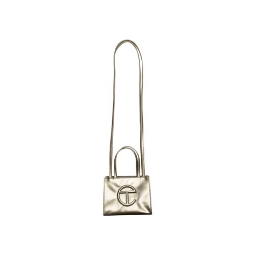 Telfar GD Gold Small Shopper Bag