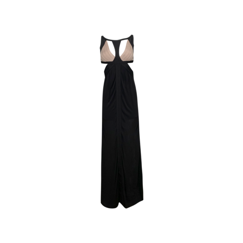 Herve Leger Black Cut-Outs Gown w/ Pink Bodice