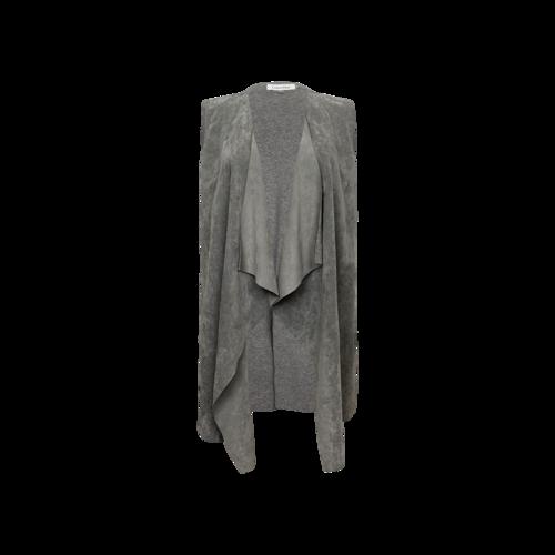 Calvin Klein Grey Faux Suede Drape Vest