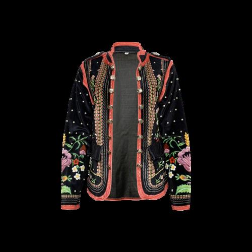 Vintage Multi-Color Velour Jacket