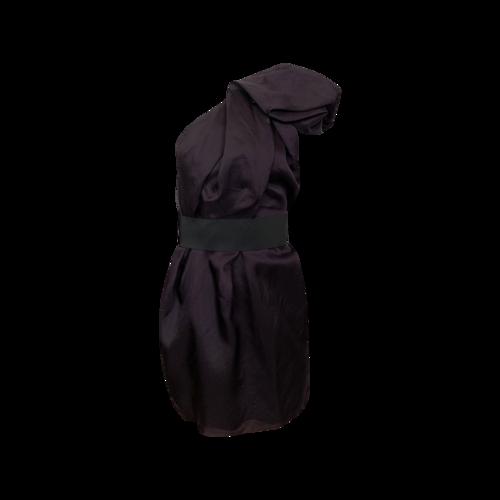 Lanvin Purple Lanvin x H&M One-Shoulder Ruffle Dress