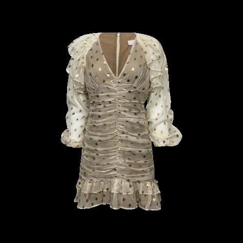 """Elliatt Ivory """"Marta"""" Polka Dot Print Dress"""