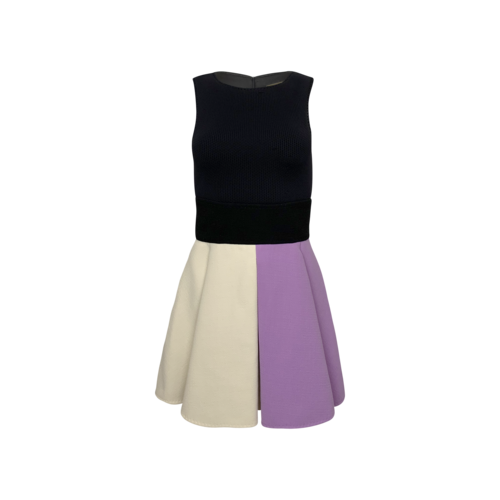 Vintage Fausto Puglisi Colorblock Structured Dress