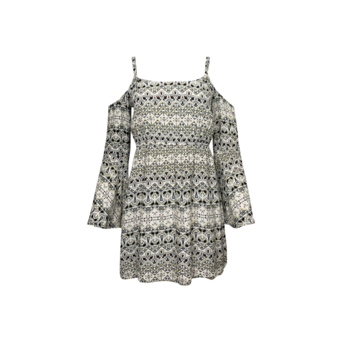 Cupcakes and Cashmere Printed Cold Shoulder Dress