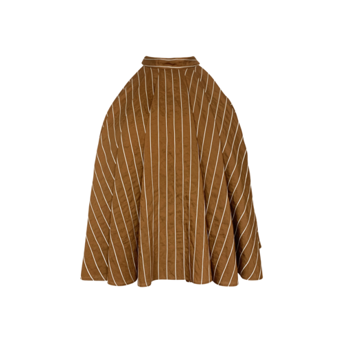 C/MEO COLLECTIVE Brown Striped Halter Swing Top