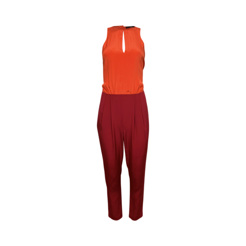 Tibi Orange and Pink Colorblock Jumpsuit