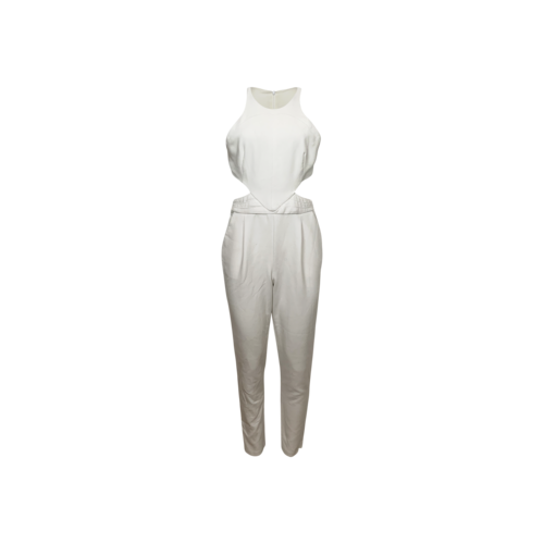 """Hunter Bell White """"Katie"""" Side Cut-Outs Jumpsuit"""