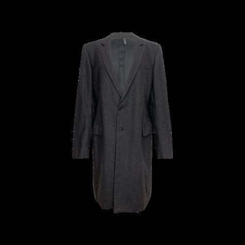 "Dior Dark Gray Raf Simons ""Manteaux"" for Dior Homme Coat"