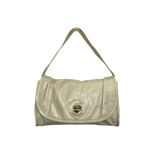 Marc Jacobs White Patent Leather Turnlock Shoulder Bag