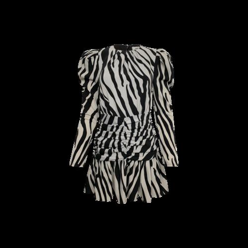"""Ronny Kobo Zebra Print """"Karilynn"""" Mini Dress"""