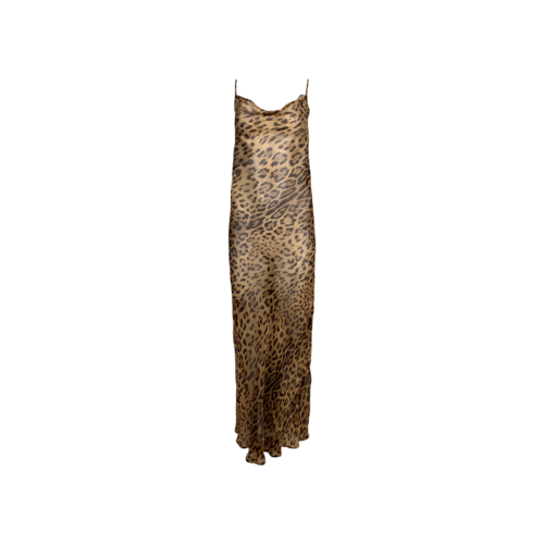 Rat & Boa Sheer Leopard Print Maxi Dress