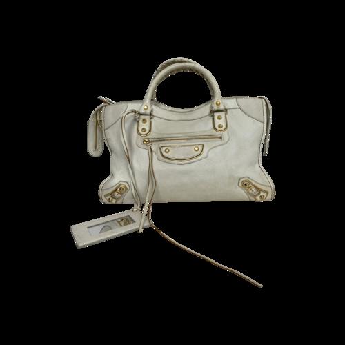 Balenciaga White City Bag