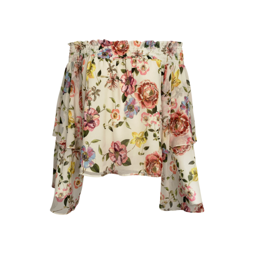 """Yumi Kim Floral """"Save by the Bell"""" Off the Shoulder Top"""