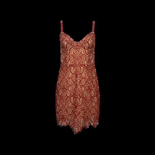 """For Love & Lemons Red """"Vika"""" Lace Mini Dress"""