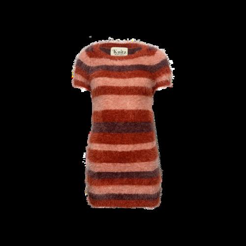 """For Love & Lemons Burgundy Stripe """"Fleetwood"""" Sweater Dress"""
