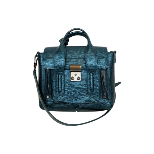3.1 Phillip Lim Metallic Teal Mini Pashli Satchel Bag