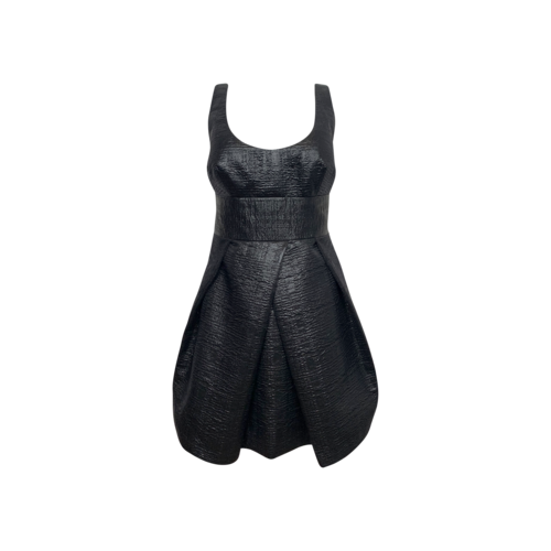 Milly Black Whitney Cloque´ Cocktail Dress