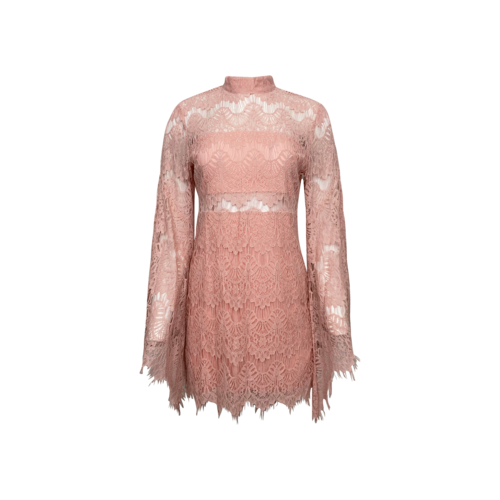 Mink Pink Pink Drama Queen Lace Dress