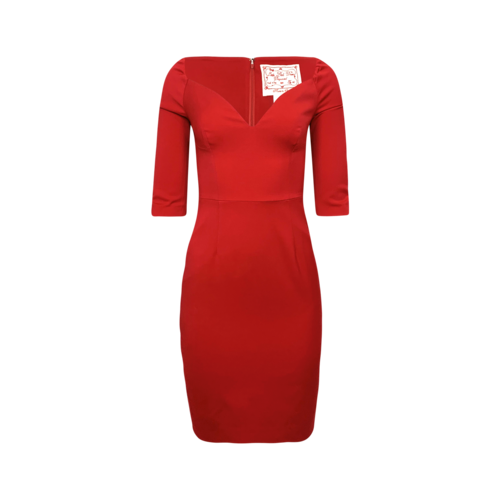 Dsquared2 Red Pencil Dress w/ Sweeheart Neckline