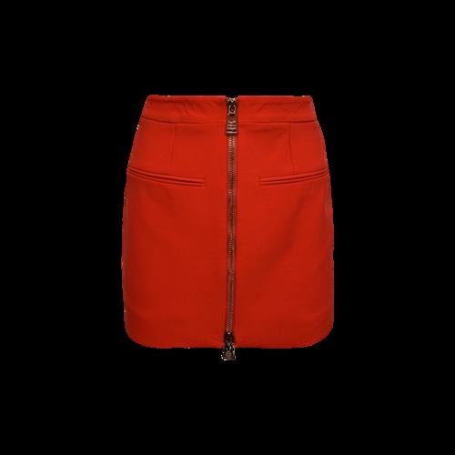 """La Perla Red Tango """"From Desk to Dinner"""" Wool Mini Skirt"""